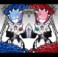 Rem and Ram by GreedyDeviant