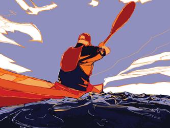Kayak by t-essart