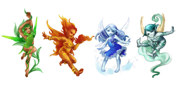 Elements Of Art Drawing : Elements fairies sketch by jurithedreamer on deviantart