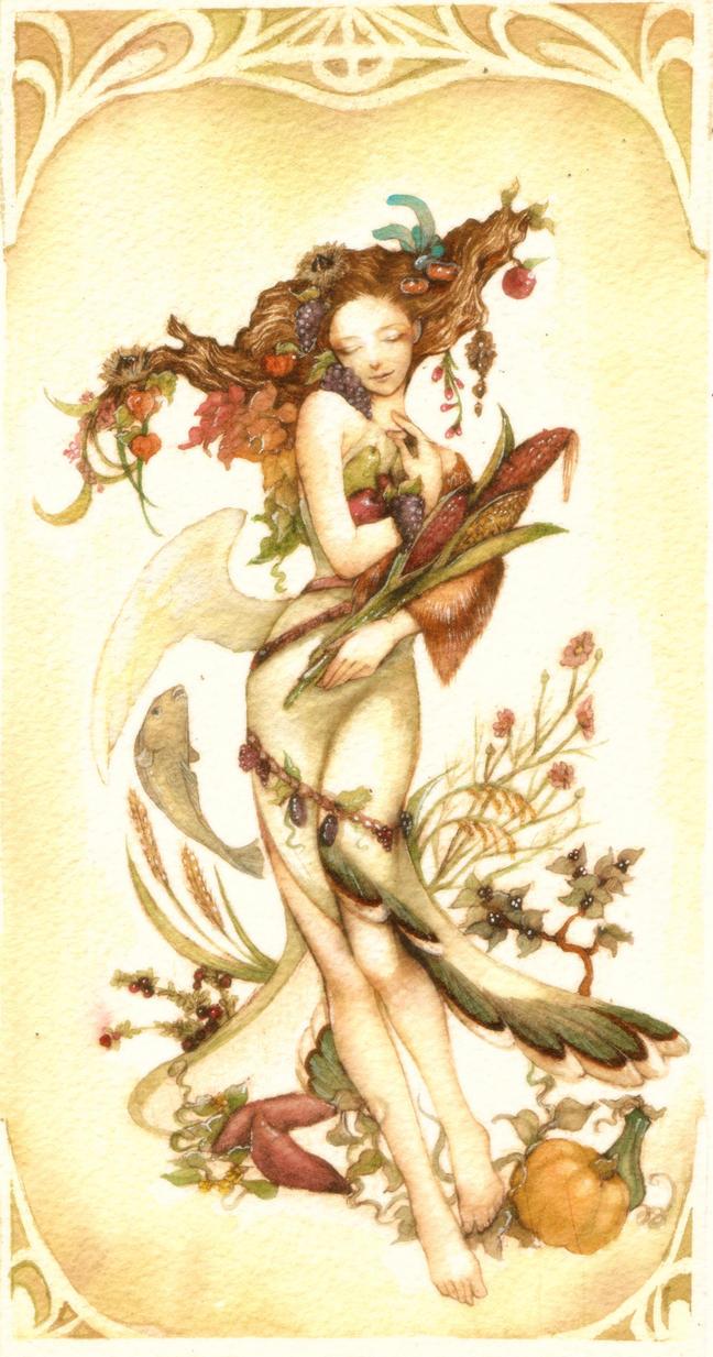 autumn goddess -finish- by jurithedreamer