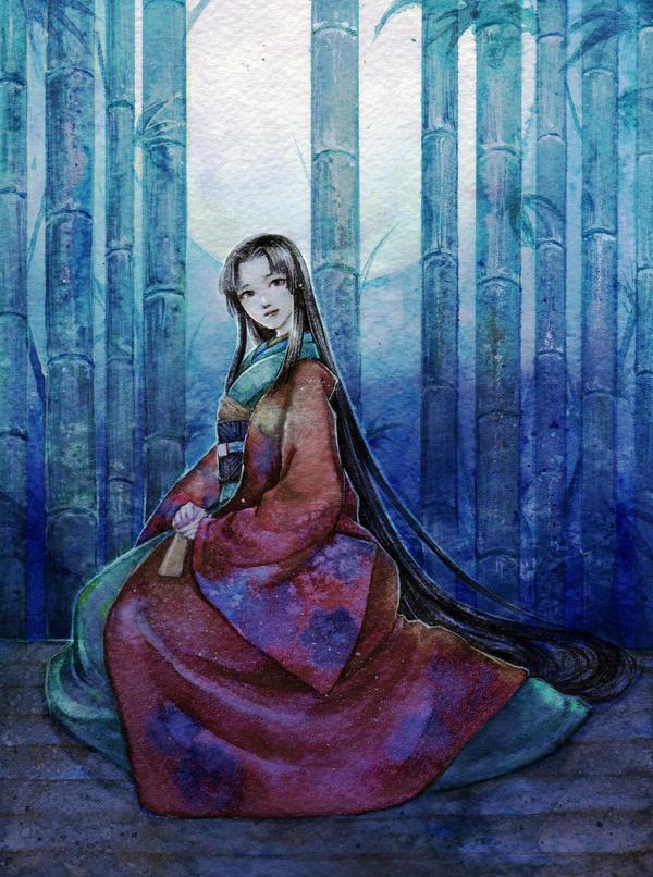 Princess Kaguya -watercolor- by jurithedreamer