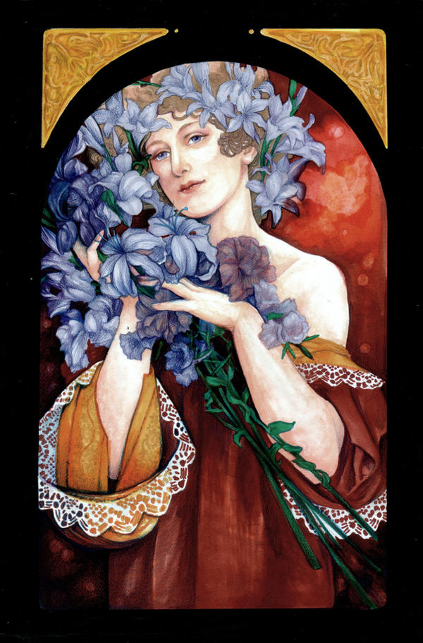 Flower by mucha by jurithedreamer