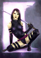 Psylocke -color by jurithedreamer