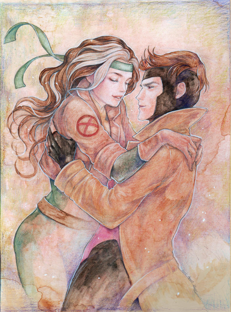 Rogue and Gambit by jurithedreamer