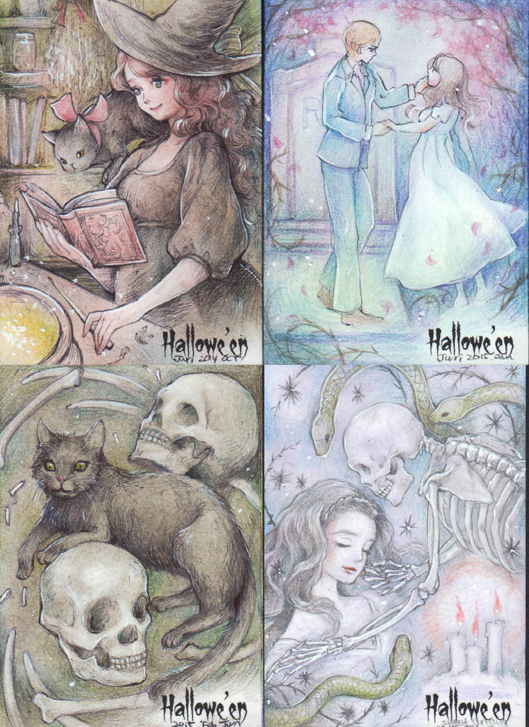 Halloween AP cards by jurithedreamer