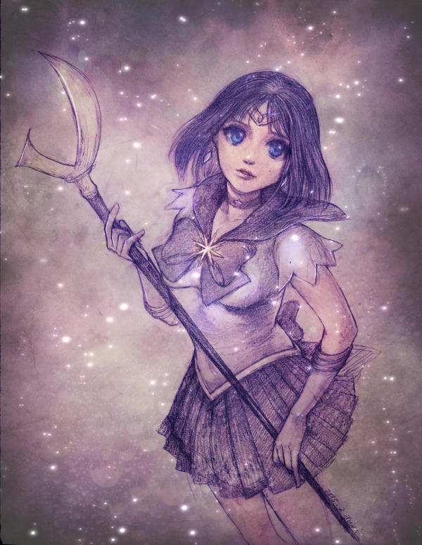 Sailor Saturn doodle by jurithedreamer