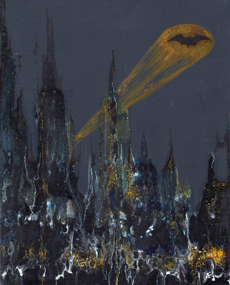 Rainy Gotham by jurithedreamer