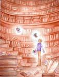 boy Alice in wander library 4