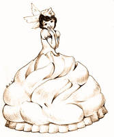 sweet girl -meringue lemon pie by jurithedreamer