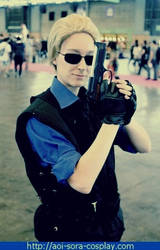 Albert Wesker Cosplay STARS version by TifaMacky-RE