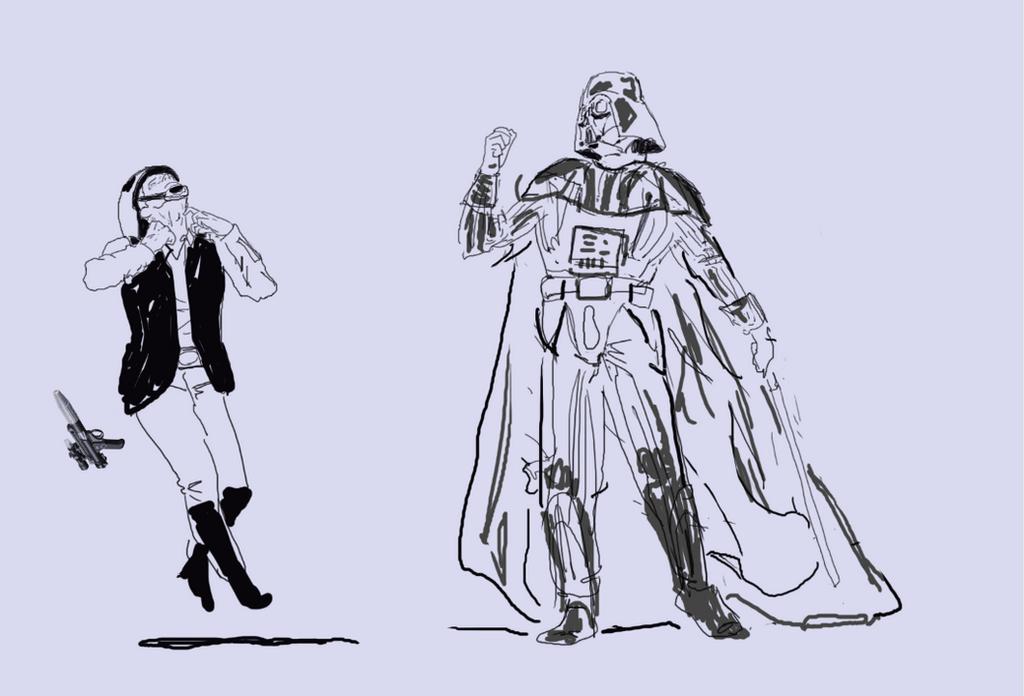 Darth Vader Choke WIP Sketch by wongas