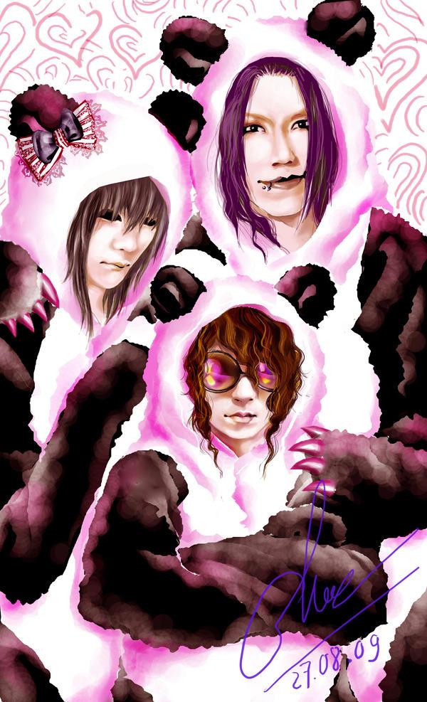 the GazettE - Panda Family yay by Alzheimer13