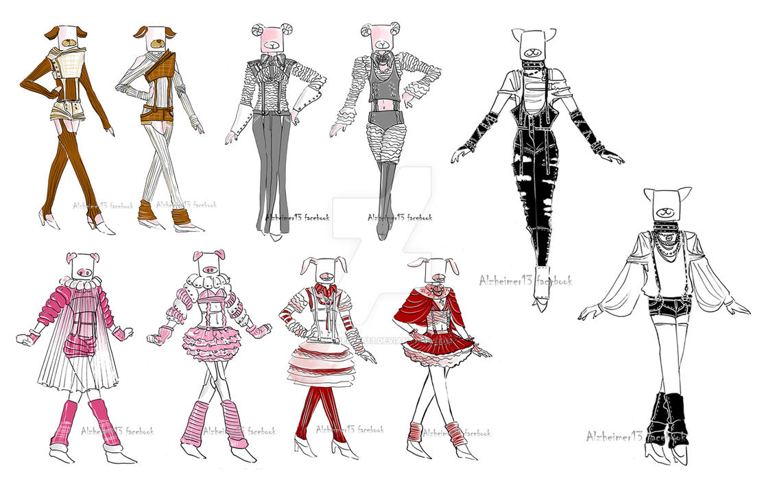 Outfits in collection-Homework by Alzheimer13