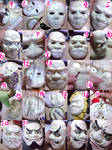 Oni Ken Bai mask - handmade - cosplay