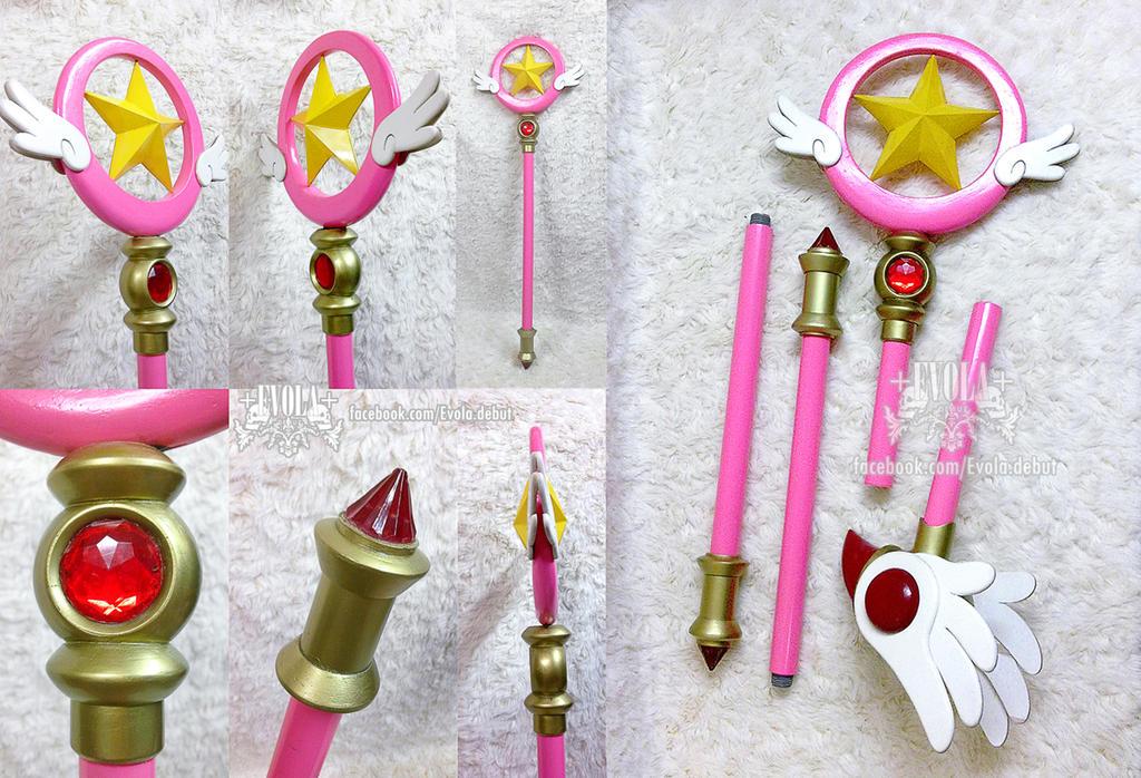 SAKURA cardcaptor staff 02 - handmade by Alzheimer13