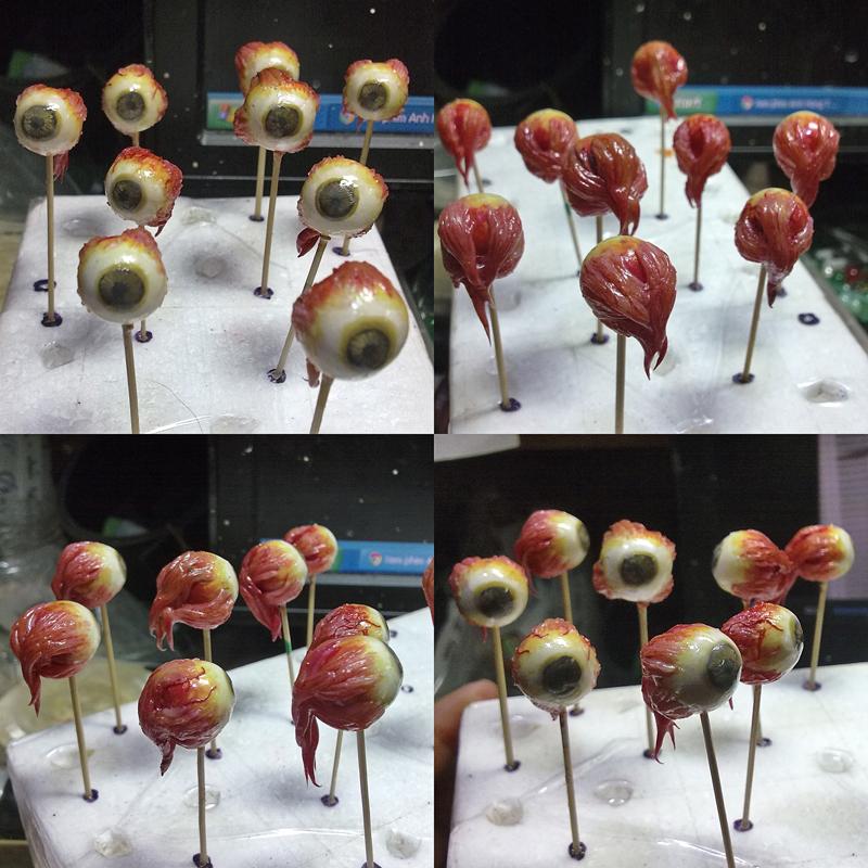 Eyeballs handmade for necklace by Alzheimer13