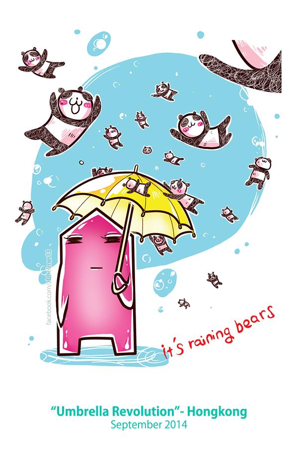 Umbrella Revolution - Hongkong by Alzheimer13