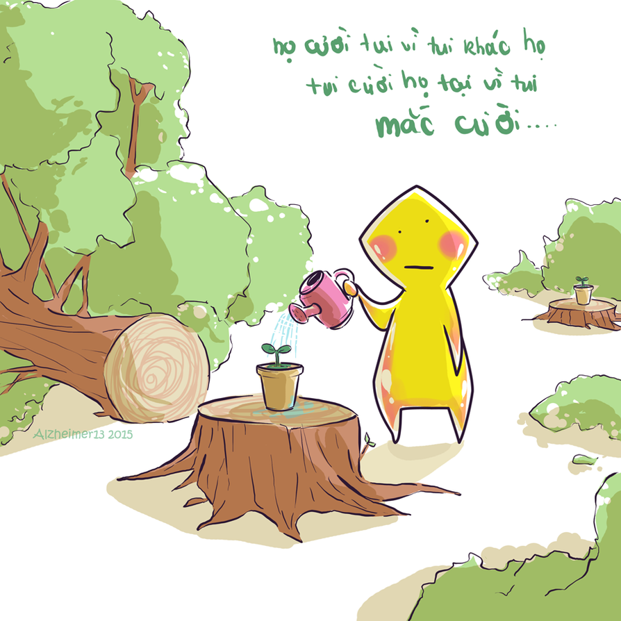 Short Comic - Different by Alzheimer13