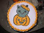 Halloween Kitty Cake by zippo-zipster