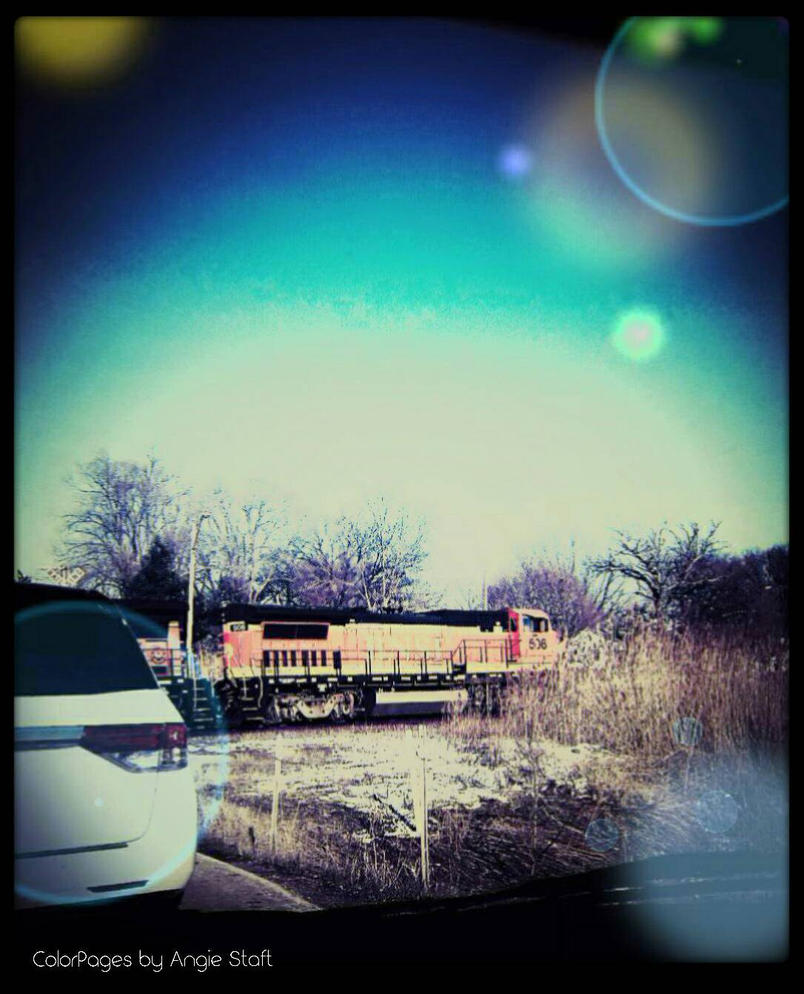 Trainstop Boredom by angiestaft