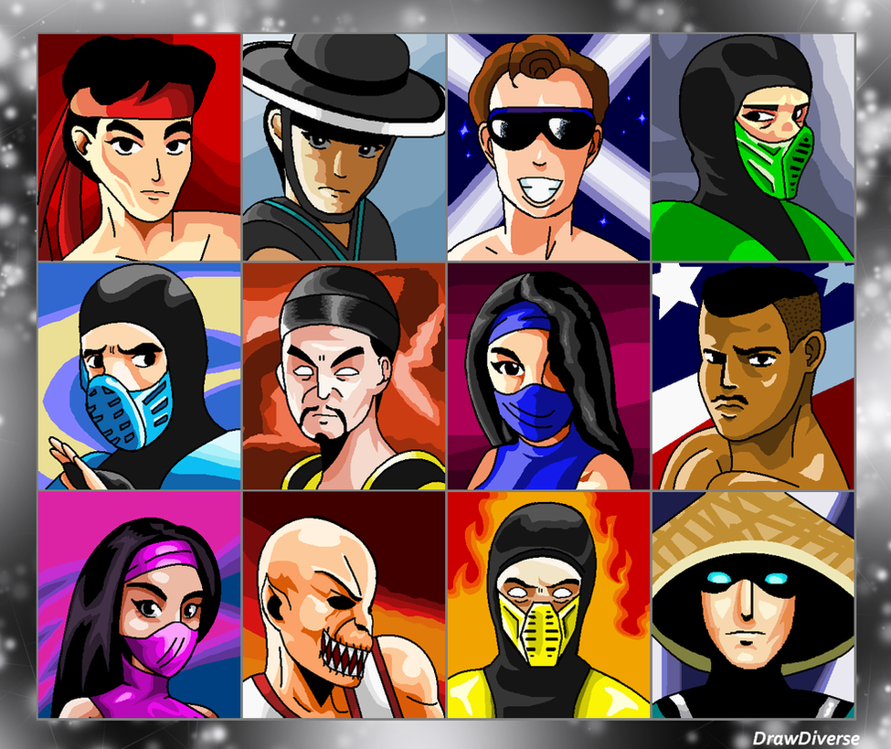 Mortal Kombat Ii Character Select By Drawduverse On
