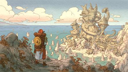 Morrowind hiking by GreyAnnis