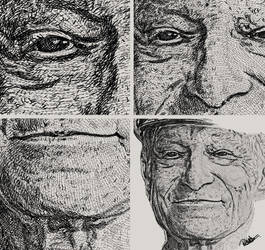 Portrait unique style artwork - Hugh Hefner