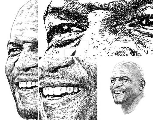 Portrait unique style artwork - Terry Crews