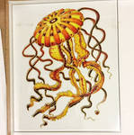 painted glass_Jellyfish gold