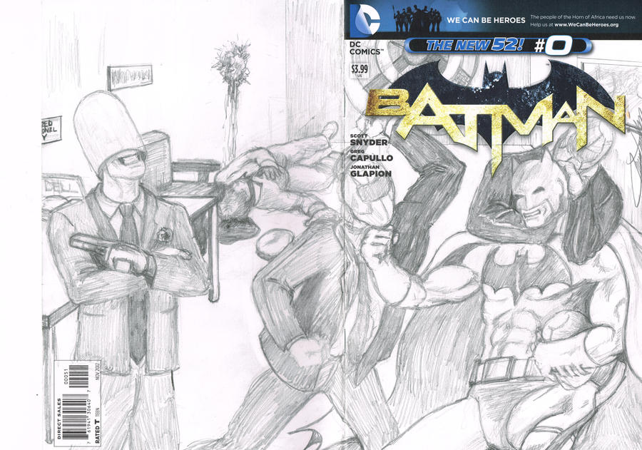 Batman #0 Blank Variant by jaymtaylor