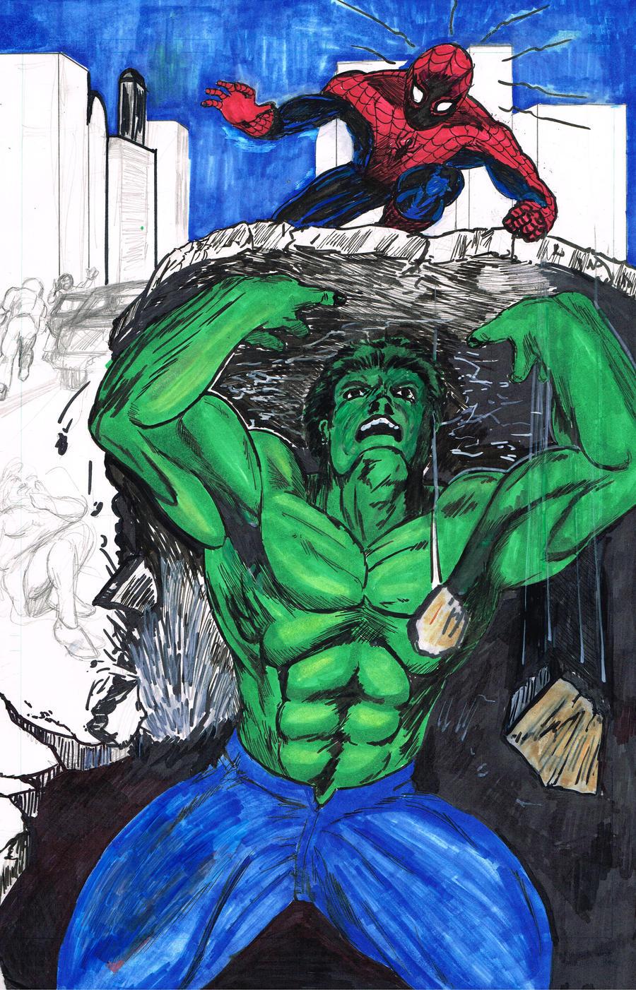 hulk spider man: