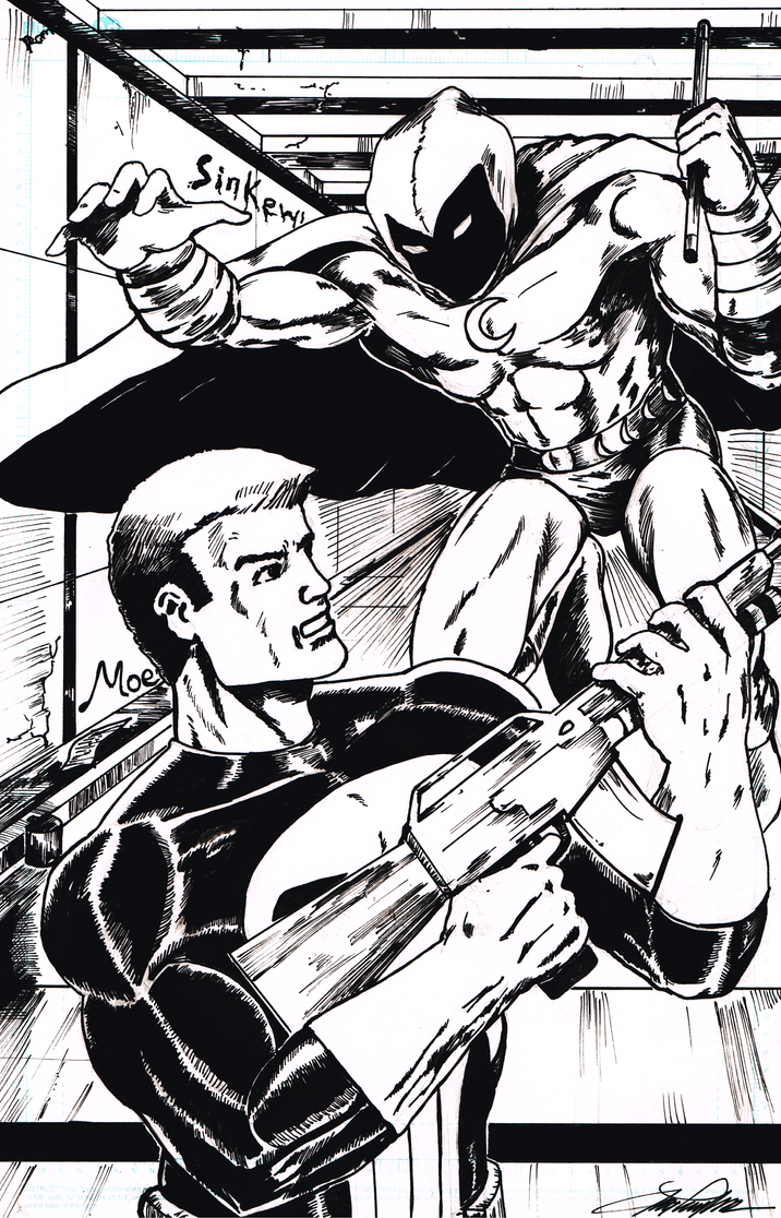 Moon Knight Punisher Commission 0002 by jaymtaylor