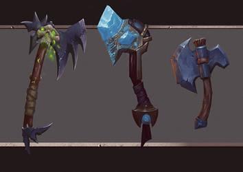 Fantasy axe design by thor6136
