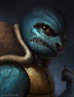 Pokemon Squirtle portrait by thor6136