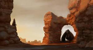 Gorilla in a desert?
