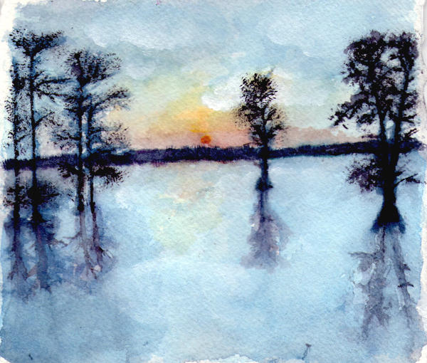 Lake Watercolor by HHarleman