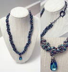 Braided Seed Bead Necklace W/ Pendant