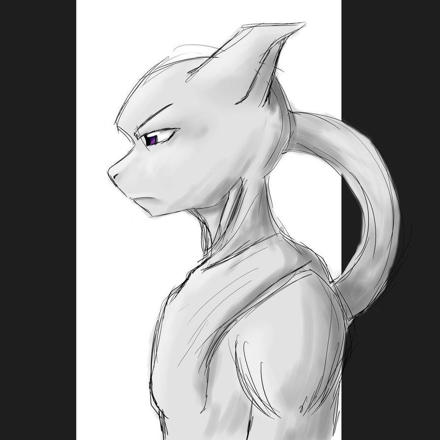 Mewtwo- Sketch by ykeproblematenemos