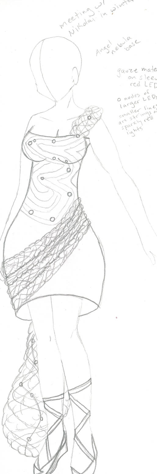 Angel Galaxy Dress