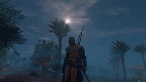 Assassin's Creed: Origins (Bayek of Siwa at night)