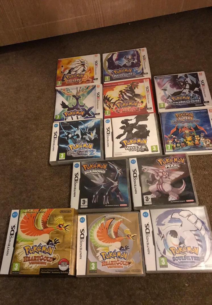 My Pokemon games so far by Chocochipcookiez