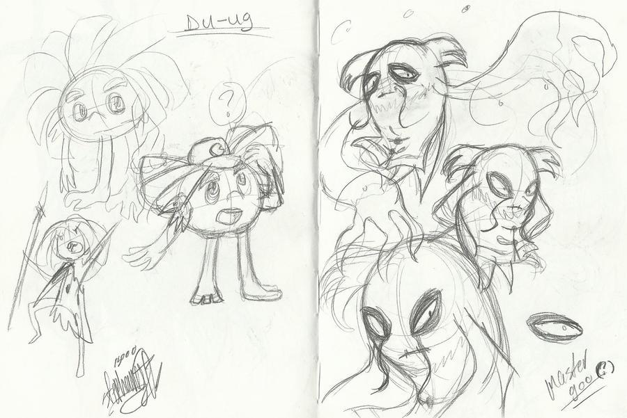 .:PMATGA doodles: Du-ug and Master Goo:. by Papiwolffox640