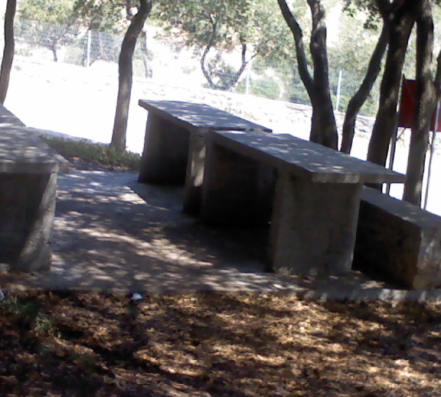 Camp gomati stone tables by dawnroseofredwall for Camp stone