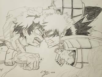 Deku vs Bakugou by Elicia1016