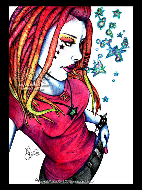 Dreadlock girl by megoboom