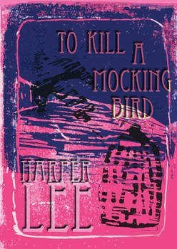 To Kill A Mockingbird Lino print cover