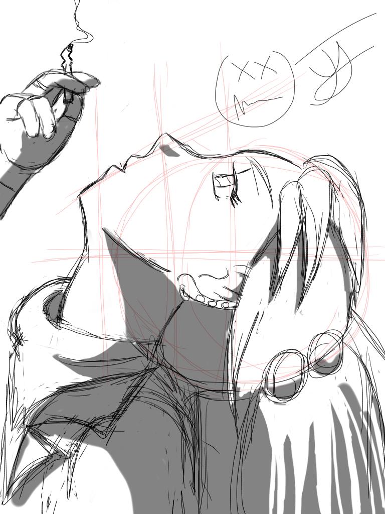 Sketch - Vanessa having a cheat day by x-Beatrush-x