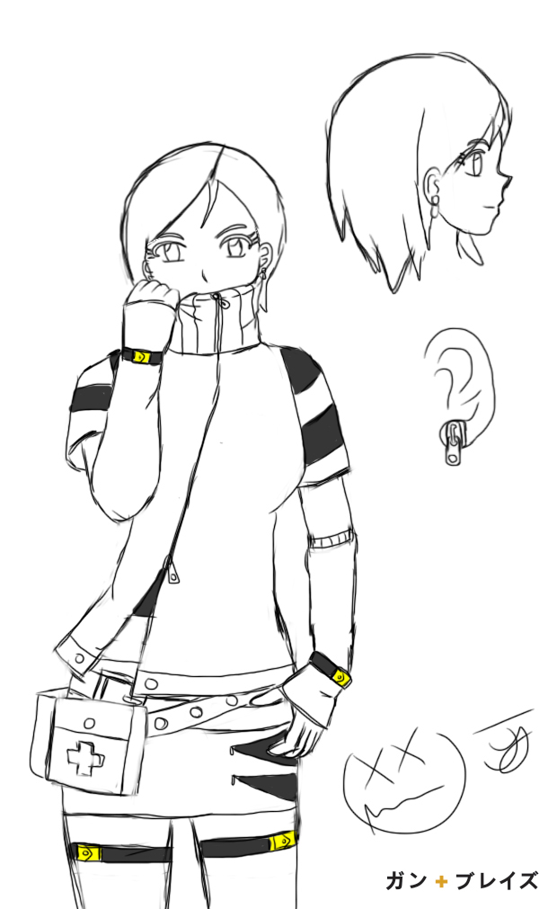 Concept Sketch - Kallen by x-Beatrush-x
