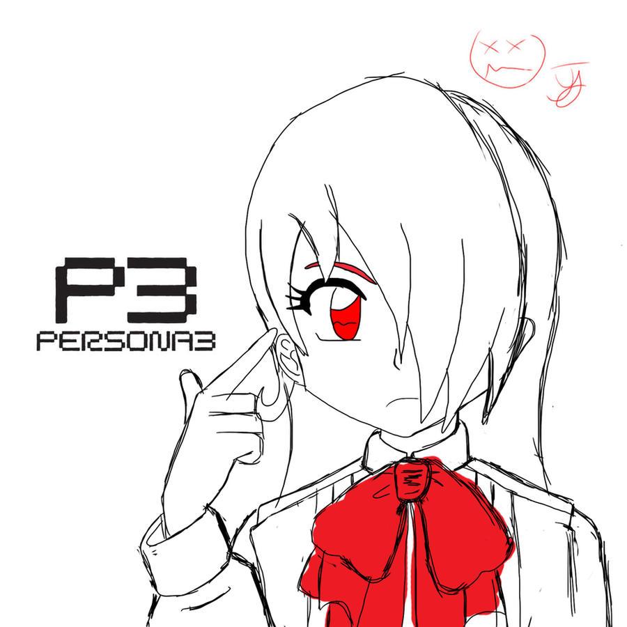 20 Minute Sketch - Mitsuru by x-Beatrush-x