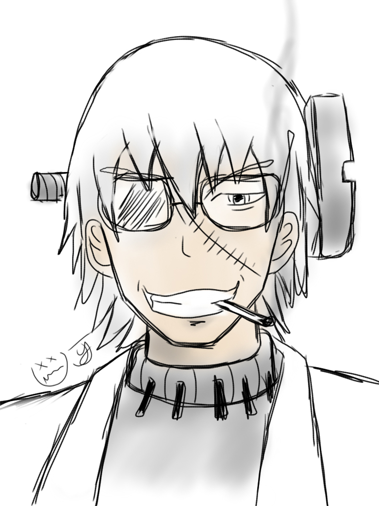 Professor Stein Train Sketch by x-Beatrush-x